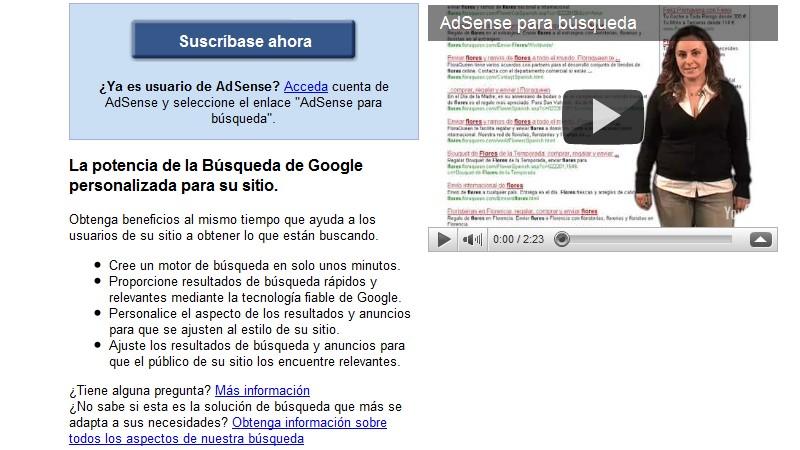 AdSense para búsquedas
