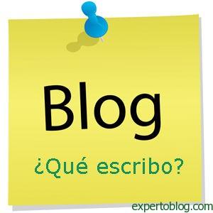 que escribir en el blog